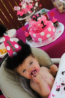 Itsy Belle: A Pink Love Lady Bug Birthday Party Cake / Dessert Table!
