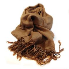 Pashmina sjaal cognac www.beadscreations.nl
