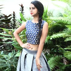 #PickYourCrop! Our blogger Sakshma looks super chic in this crop top and skirt.
