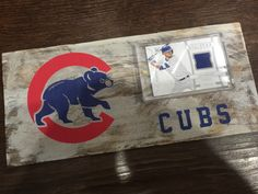 A personal favorite from my Etsy shop https://www.etsy.com/listing/289018923/chicago-cubs-vintage-style-baseball-card