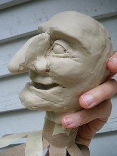 How to cast a plaster mold for paper mache puppet heads, hands, and feet.