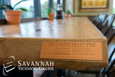 Whole Foods Market Savannah - Reclaimed Wood Tables. Historic Preservation students helped design/construct dining area tables with local reclaimed wood.