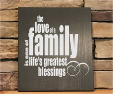 Typography, Subway Art, Family name signs, The love of a family, Wood Sign 11x12 personalized wood signs wood by StoneEffectsMD, $23.00