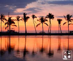 Havaí, além de ondas gigantescas, clima de calor e terra dos surfistas, é um lugar com um pôr de sol maravilhoso. Já se imaginou lá? #ClubePeloMundo http://www.clubeturismo.com.br/site/