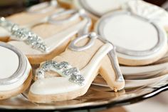 Love this sparkly high heel cookie!
