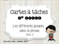 La classe de Mme Jenny: Cartes à Tâches Math Games, Classroom Management, Literacy, Compliments, Homeschool, Teaching, Education, Groupes, Cycle 2