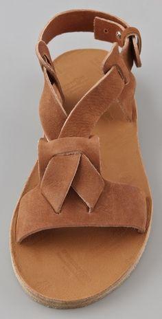 flat suede sandals  ny Maison Martin Margiela via shopbop