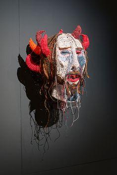 Thornmann 2007  29 x 28 cm, cotton, resin