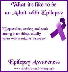 Please like and share. This is what it's like to be and adult with Epilepsy ♥ #epilepsy #epilepsyawareness