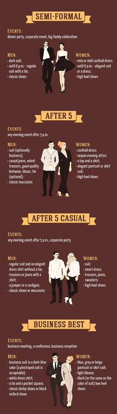 Basic Dress Code Rules {Infographic} - Best Infographics