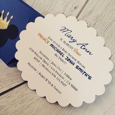 Matching Prince Mickey Mouse baby shower invitations. Click the link in my bio to visit my online shop