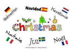 Christmas around the world poster