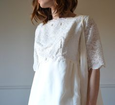 60s wedding dress / 1960s wedding dress / 60s by BreanneFaouzi with the coat!