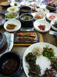 """A traditional meal using herbs and plants collected in the forests that cover 60% of the country.   Known as the """"land of the morning calm,"""" South Korea is a fascinating mix of ancient and modern. Explore its delicious cuisine and connect to Korean farmers' centuries-long struggle for land and democracy. #food #foodsovereignty #foodsovtours #foodjustice #korea www.foodfirst.org UPCOMING TOUR: LAND, FOOD AND DEMOCRACY   MAY 9 - 17, 2015"""