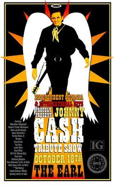 Johnny Cash Tribute Show Poster (design)