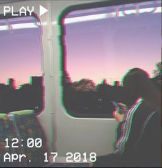 M O O N V E I N S 1 0 1       #vhs #aesthetic #glitch #train #girl #pink #purple #sunset #adidas   If you want a vhs edit please message me the following:  -A picture (which you want to be edited) -A time and date -A certain quote/name (optional)