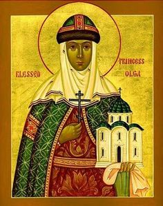 Icon of St. Olga the Princess of Russia