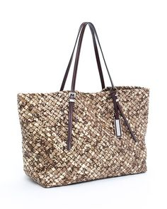 Michael Kors Safari Woven Embossed Tote. How I would LOVE to carry this around.....
