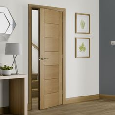 Palermo Oak Door with Panel Effect is Pre-Finished - Lifestyle Image.    #flushdoors