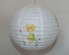 """Lampenschirm/Kinderlampe+""""Mädchen+am+Teich""""+von+muggel's+welt+auf+DaWanda.com"""