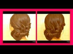 French braid into side bun