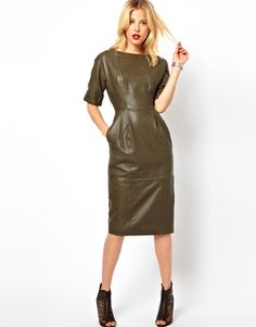 The ASOS Wiggle dress in leather