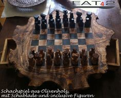 #olive #wood chess  #chessboard  handmade &  #unique  by Premiumolivewood, $139.00