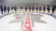 Winnipeg Jets Around Center Ice (Jonathan Kozub) Jets Hockey, Ice Hockey Teams, Football And Basketball, Nhl News, Nhl Games, Fun Shots, In This Moment, Opening Night, Rat