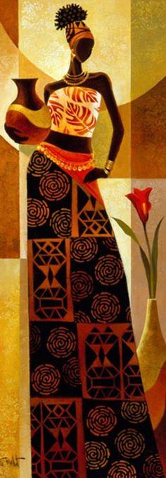 ideas african art painting people oil on canvas African American Art, African Women, Afrique Art, African Art Paintings, Black Art Painting, Painting People, Black Women Art, Female Art, Tribal Art
