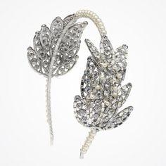 Vintage hollywood swan lake bridal headband by Fabledreams