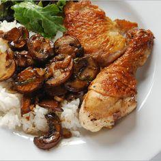 Vinegar Chicken with Mushrooms