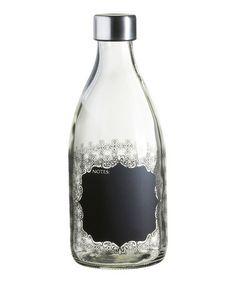 Look what I found on #zulily! Chalkboard Label Milk Bottle #zulilyfinds