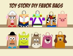 Copy of Toy story DIY Favor Bag Template, Toy story Party Bags Printable, Toy story DIY Gift Bag, Toy story Birthday Printable, Digital Files Toy Story Theme, Toy Story Birthday, Toy Story Party, Birthday Diy, Birthday Gifts, Toy Story Font, Birthday Ideas, Happy Birthday, Diy Party Bags