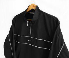 Vintage 90's Nike Swoosh Sweatshirt Black Size M