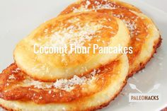 Try these delicious Paleo Coconut Flour Pancakes - made completely grain free & gluten free. Enjoy these tasty Paleo pancakes with some maple syrup! Coconut Flour Pancakes, Coconut Flour Recipes, Paleo Recipes, Low Carb Recipes, Real Food Recipes, Cooking Recipes, Yummy Food, Coconut Oil, Almond Flour