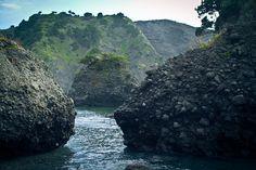 Izu sea caves by ohpageboys, via Flickr