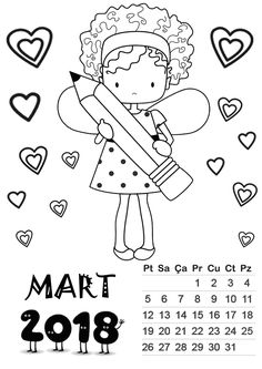 mart ayı kalıbı Templates Printable Free, Printables, Student Calendar, Preschool Painting, Diy For Kids, Coloring Pages, Martini, Classroom, Writing