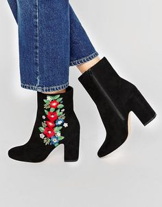 ASOS | ASOS EDITH Embroidered Boots