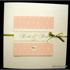 Hochzeitseinladungen grun apricot