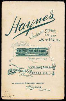Frank Jay Haynes Haynes Palace Studio | Sheaff : ephemera