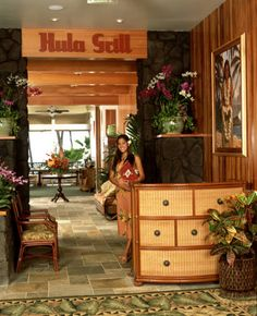 Hula Grill in Waikiki. We went there for my sister's birthday dinner & the food was good!