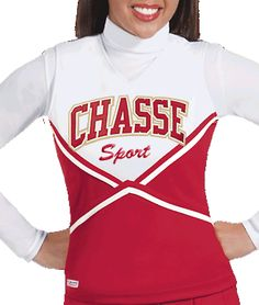 Double Knit Crown Cheer Uniform Top by Chassé, part of the Chassé Sport Collection - 8 popular colors available
