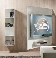 Porta TV Girevole Attrezzato Sul Retro