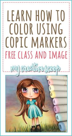Free Online Copic Marker Coloring Class + Free Digi Stamp - My Creative Scoop