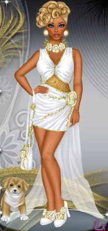 Wonderful in white at www.divachix.com #divachix #dressupgames #girlgames…
