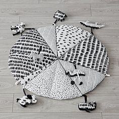 Black and White Baby Play Mat with Rattles | The Land of Nod