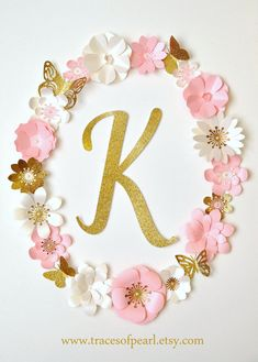 This item is unavailable : Royal Garden Pink & Gold Glitter Oval Floral Letter Monogram Frame by TracesofPearl . Beautiful paper flowers and butterflies. Pink and gold glitter. Perfect for first birthday, tea party, princess party, room decorating. Tea Party Birthday, First Birthday Parties, First Birthdays, Diy Birthday, Birthday Ideas, Party Party, Birthday Gifts, Pink Und Gold, Rose Gold