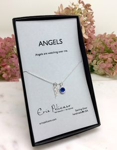 Angel Wing Necklace. Remembrance Jewelry. Grief Gift for Her. In Memory necklace. Miscarriage necklace. Inspirational Jewelry Strength gift by erinpelicano on Etsy