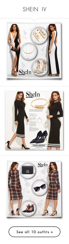 """SHEIN  IV"" by velidafashion ❤ liked on Polyvore featuring WithChic, Christian Dior, Giorgio Armani, Christian Louboutin and Laura Mercier"