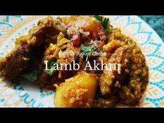 LAMB AHKNI RECIPE - YouTube My Cookbook, Sheep, Charts, Lamb, The Creator, African, Cooking, Youtube, Recipes